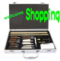Cleaning kit brush full set for gun rifle with case free shipping