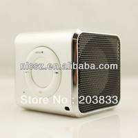 Free shipping +  Black Original Mini TF Micro SD FM Radio Audio Stereo CD Digital Speaker Player