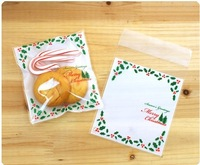 10*11cm, baking food packing bags with leaves pattern, zip lock bag, cookie biscuit bag, candy and gift bags