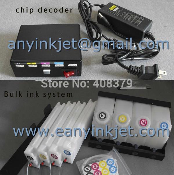 Bulk ink system with chip decoder for SC30680 4 bottles 4 cartridges 1 decoder Ciss ink