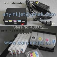 Bulk ink system with chip decoder for Epson SC30680 (4 bottles + 4 cartridges+ 1 decoder)