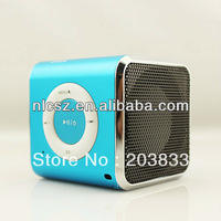 Free shipping + Blue Original Mini TF Micro SD FM Radio Audio Stereo CD Digital Speaker Player