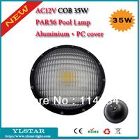 AC12V IP68 PAR56 35W COB Warm White/Cool White Led Swimming Pool Lamp,Underwater lamp, Aluminium + PC cover(corrosion-proof)