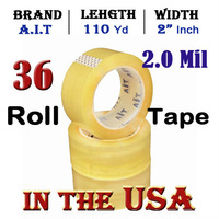 "36 ROLLS 2"" x 330' CLEAR PACKING TAPE 110 YARDS LIMITED TIME OFFER!!"