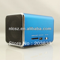Free shipping + New Music Portable Mini USB Micro SD/TF Mp3 Player without screen, digital Speaker& computer speaker