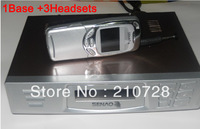DHL FREE SENAO SN 629 15KM cordless telephone SN629 1 base support 9 extra handset Duplex Intercom<A set of 1Base+3Headsets>