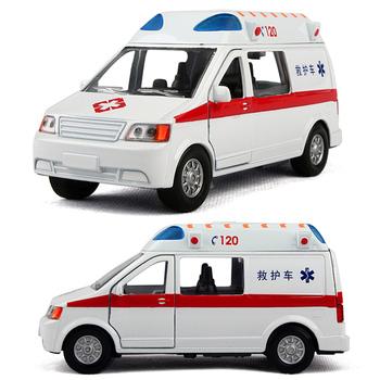 Toy car toy car alloy WARRIOR cars first aid 120 belt alarm siren flash ambulance car 120