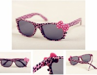 Free shipping!Wholesale Fashion Kids Leopard Sunglasses Children Cat Eye Cartoon Eyewear