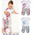 2013 fashion children&#39;s clothes suit (T-shirt + pants) 2 pack suitable for boy/girl summer dress free shipping