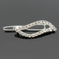 Free Shipping! Min. Order 10USD(Can Mixed Order)   rhinestone side-knotted clip hairpin hair pin hair accessory