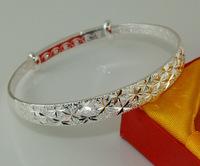 Free Shipping! Wholesale 5pcs 925 sterling silver charming designed  closed bangle bracelet TZ082*5