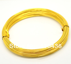 25 Rolls (25x20M) Golden Plated Aluminum Wire Jewelry Making 1mm(China (Mainland))