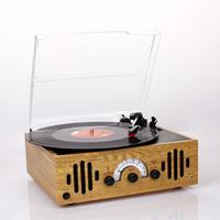 Vinyl machine antique radio-gramophone am fm radio built-in amplifier horn fashion Vinyl LP Record Player