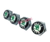 License Plate Frame Bolt Screw Set (4) Emblem Seta For skoda Free Shiping High Quality Wholesale