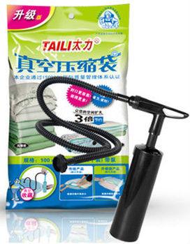 2PCS Cube Vacuum Storage Bag Garment Storage & Dust Cover Bags Travel Bag Organizer with Manual Pump 100*70*38 cm