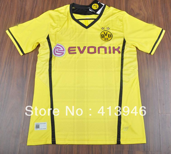 Dortmund Bundesliga Champions League 2012-13 season home jersey soccer jerseys(China (Mainland))