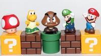 NEW Super Mario Brothers Bros 5pcs Desktop Decoration