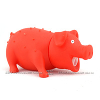 New arrival pig pet toy dog toys vocalization teddy toy pig color