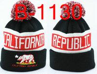 2013 New arrive California republic Beanie hat cap Football beanies cap wool winter knitted caps hats for man and women
