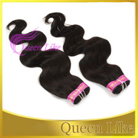 100% virgin human hair extension brazilian body wave machine weft mix  length 18'/20'/22' shedding free