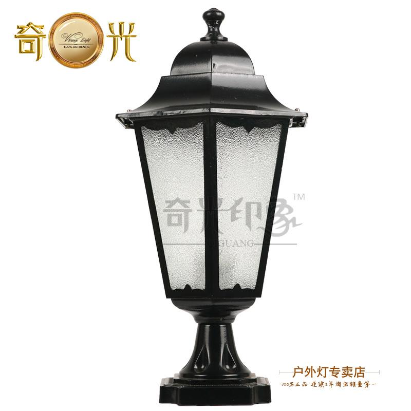 Large hexagonal wall light fashion outdoor lighting wall light pillar lamp lawn lamp(China (Mainland))