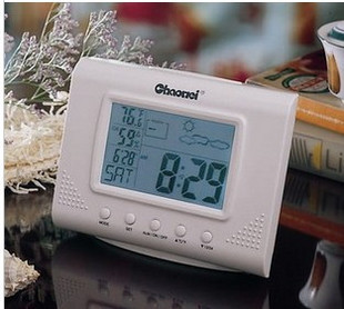 Super dimensional cw8096 advanced smart backlight weather station clock electronic clock alarm clock humidity meter(China (Mainland))