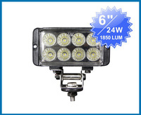 FOR JEEP 24W LED Work Light 1850Lumen Offroad Driving Lamp 4WD 4x4 ATV,9-32V DC IP67 FLOOR BEAM cree led offroad led light