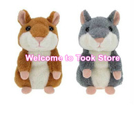 Free DHL/EMS + 20pcs/lot 2013 In Stock Newest type a Talking Hamster animal repeat Pet Talking Plush Toy Novelty Christmas gift