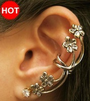 Min Order $10, Jewelry, Retro Flower Earring Cuffs Jewelry For Sale Accessories,Vintage Punk Style Stud Earring E22245