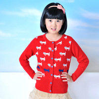 Ts-817 children's clothing women's child sweater thermal basic all-match sweater shirt knitted kitten cardigan