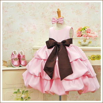 2013 Fahion Design Children Kids Dresses Girls Summer Wear Clothing Big Bow