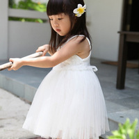 HOT!2013 summer girl's/female Children's  princess wedding  one-piece tank dress baby girl new year party ball flower rose dress