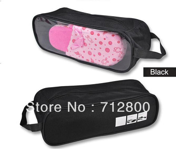 Portable Waterproof Shoe Bag Outdoor Travel Shoes Bag Pouch Nylon High Quality 5pcs/lot FREE SHIPPING