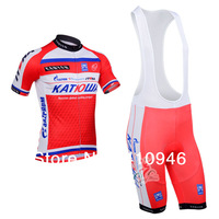 The Lowest Price! Any Way To Match! New! 2013 KATUSHA Team Blue&Red Cycling Jersey / + (Bib) Shorts-B155 Free Shipping!