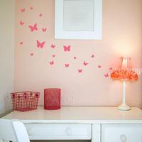 Set of 18 butterflies wall stickers interior design Children's Room or Baby Nursery  Vinyl Sticker  30*60CM  Free shipping