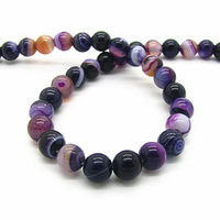 Fashion Natural Agate Stone Beads 10mm 38pcs Wholesale Purple Rondelle Loose Beads for DIY Jewelry Findings  Free ShippingHB519