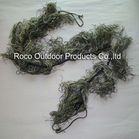 1.2m Elastic Synthetic thread 7 Colors Mixed Woodland Ghillie Paintball Airsoft Rifle Camoflauge Camo Wrap Hunting Accessories