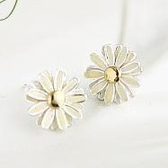 Mini Order USD15 Free shipping metal design retro daisy flower stud earrings uhou Jewelry BE033(China (Mainland))