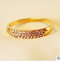 Min Order 15$ Free Shipping Vintage Rose Gold Rings 2013 For Wedding High Quality Good Quality Wholesale Hot BC0895
