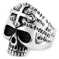 Cross titanium Men finger ring male skull ring ve305