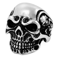 Men titanium ring men's skull titanium finger ring ve307
