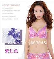 factory price!fashion cotton women's sexy bra +random briefs ,sexy bra and briefs lingeire,ladies barasiere, closure6020-purple