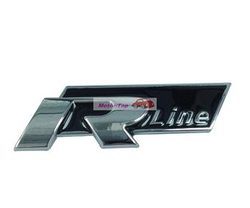 30pcs 30/lot Black Metal Hood Front Grille Grill Badge Emblem For Rline R-line VW GTI CC Passat Free Shipping High Quality