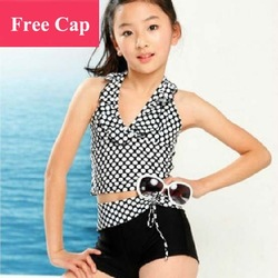 Free shipping, 2013 New Arrival, Children Clothing, Fashional Dots Girls Swimwear, Girl Kids Swim Wear, Summer Swimsuit, TTY001(China (Mainland))