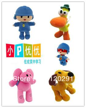 "Bandai plush Pocoyo ELLY PATO Soft Plush Stuffed Animal Figure Toy Dolls Christmas Gifts 12"" inch 30cm Free shipping 10pcs"