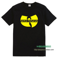 Hiphop wu-tang wu tang clan 100% cotton o-neck short-sleeve plus size male t-shirt