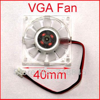 10pcs/ Lot PC 12V 2pin 40mm 4cm Square VGA Video Card Cooling Cooler Heatsink Fan