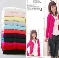 New Hot Fashion Women Lady Girl V-neck Long Sleeve Cardigan Knitted Sweater Tops