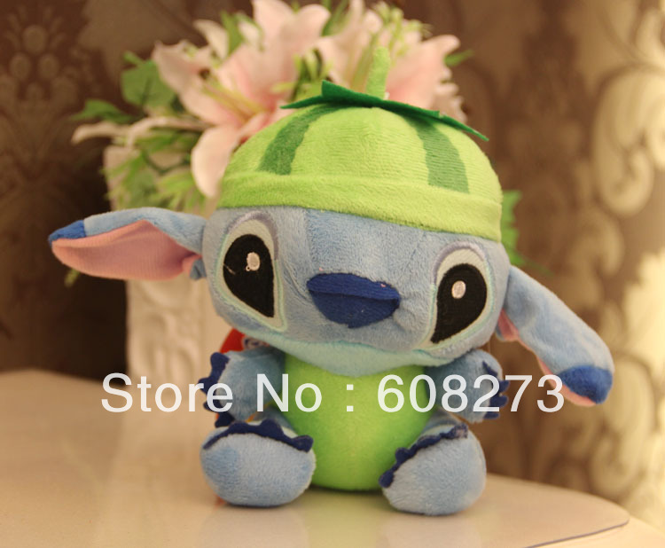 new arrival 18 cm(7 inch) plush recording fruit Stitch toys with 12 seconds sound recorder wedding favors.free shipping(China (Mainland))