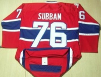 Free shipping ice hockey #76 P.K. SUBBAN  76 premier red color home style cheap Jersey jerseys hot sale gift size:M-XXXL